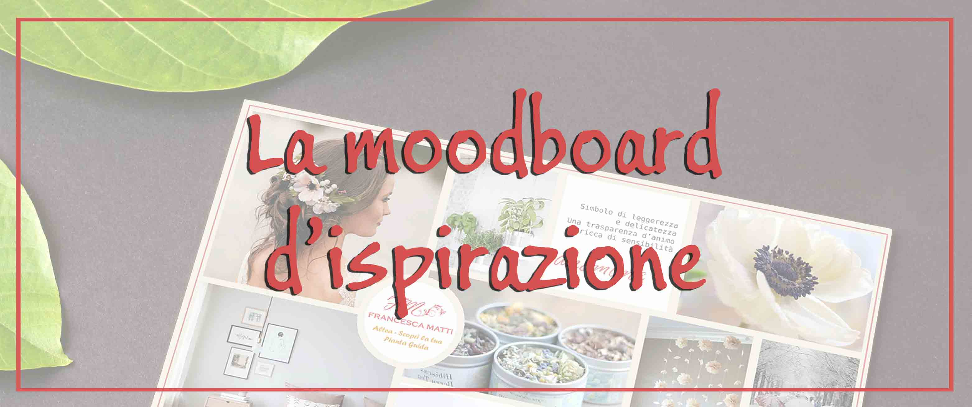 La moodboard d'ispirazione