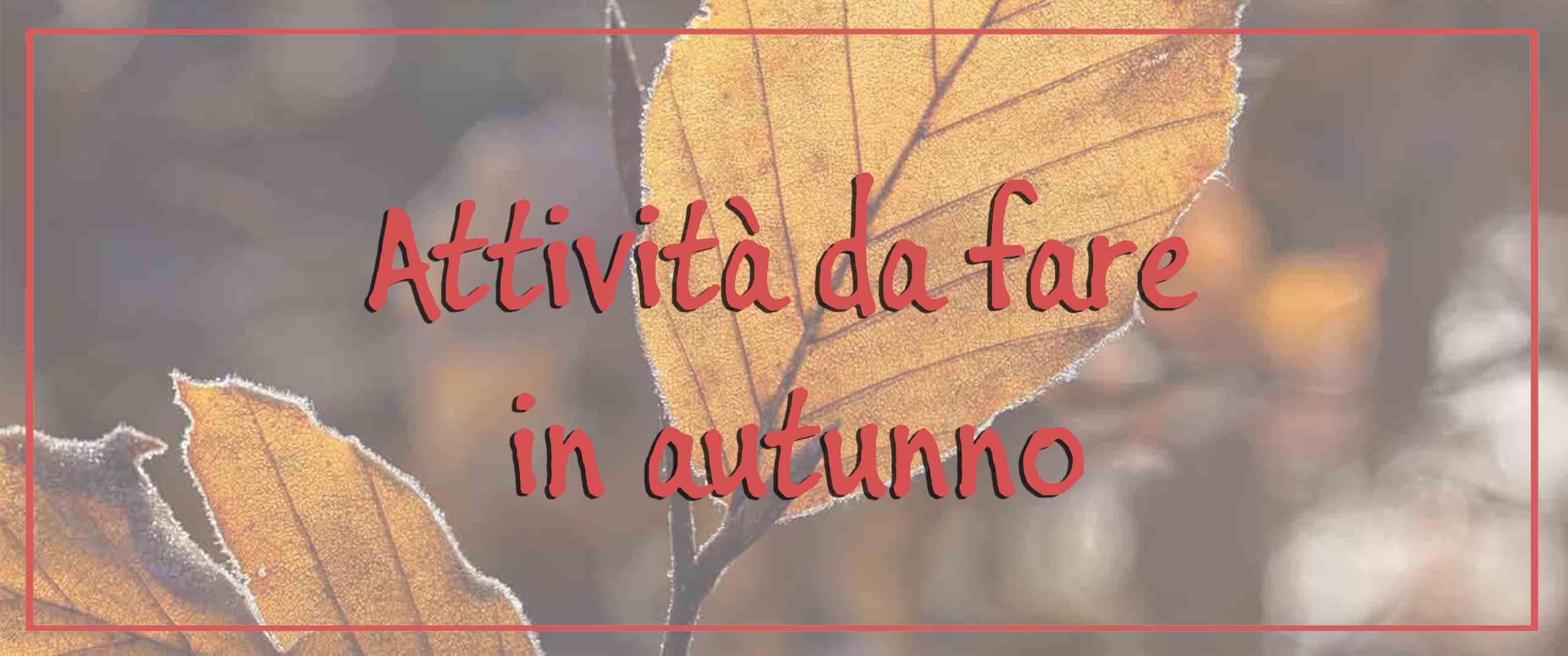 Attività da fare in autunno
